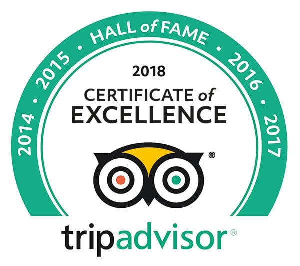 Sand Dune Adventures - TripAdvisor 2018 Certificate of Excellence logo